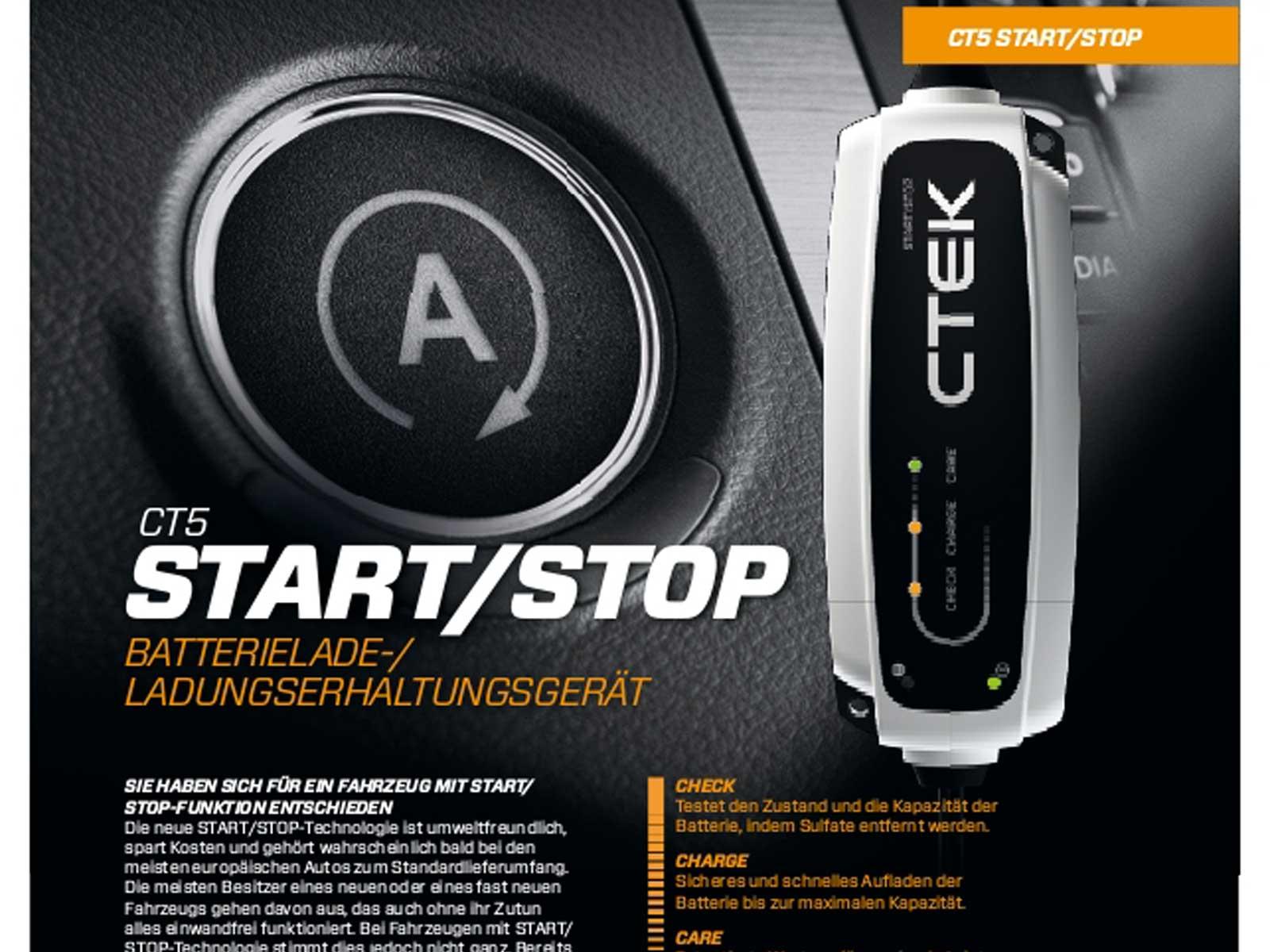 ctek ct5 start stop batterie ladeger t 12v hochfrequenz. Black Bedroom Furniture Sets. Home Design Ideas
