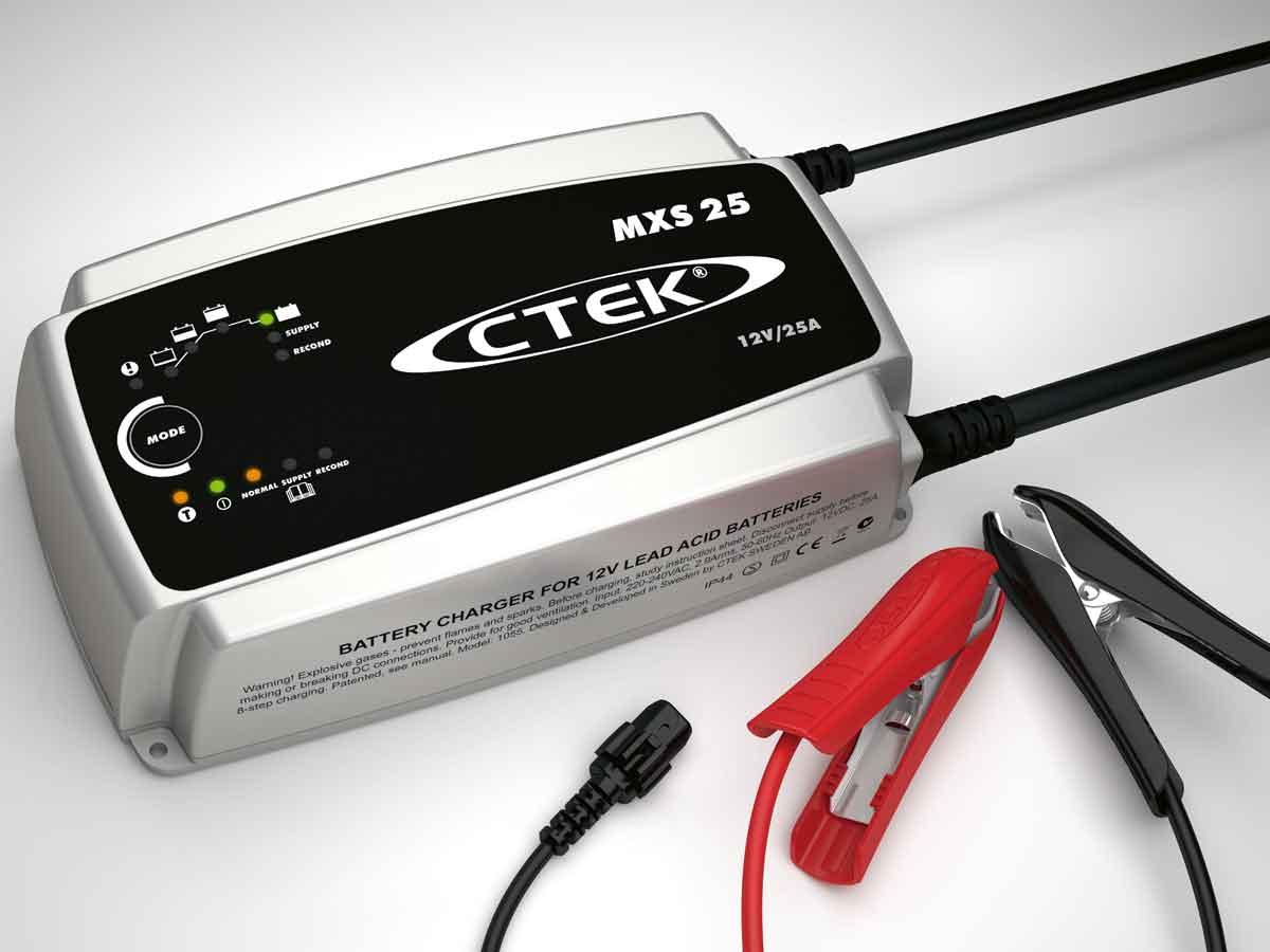 batterie ladeger t ctek mxs25 profi werkstatt bis 500ah. Black Bedroom Furniture Sets. Home Design Ideas